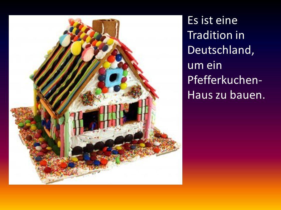 Es ist eine Tradition in Deutschland, um ein Pfefferkuchen- Haus zu bauen.