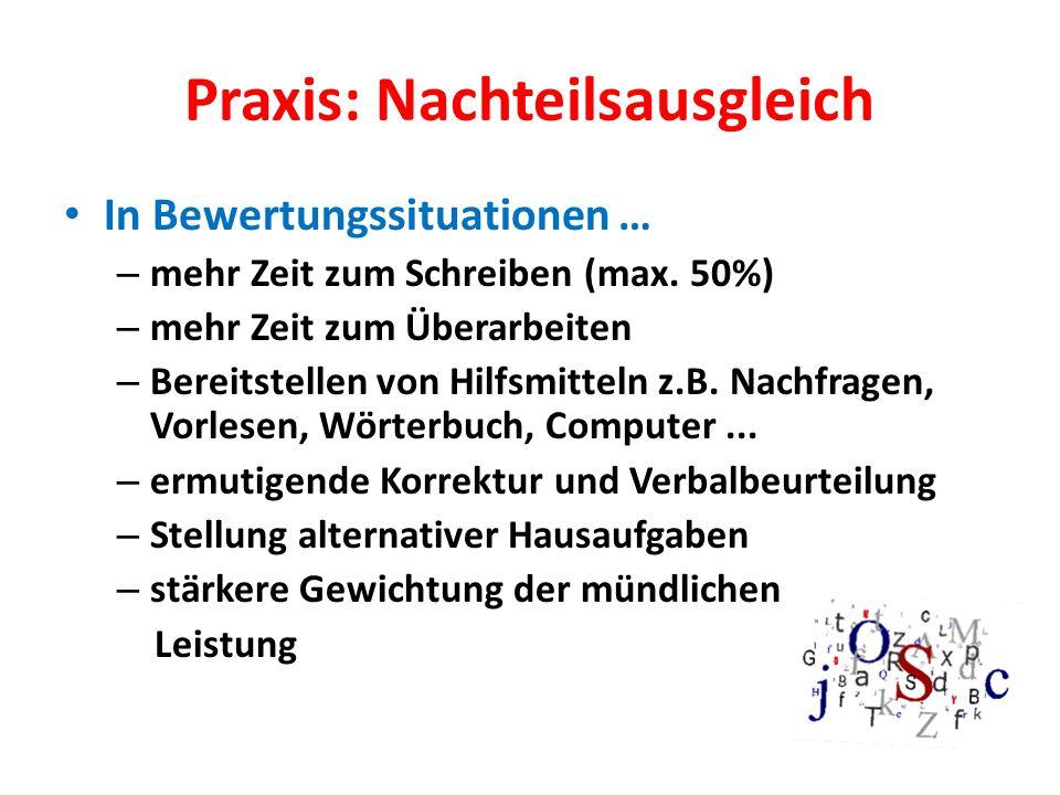 Praxis: Nachteilsausgleich In Bewertungssituationen … – mehr Zeit zum Schreiben (max.