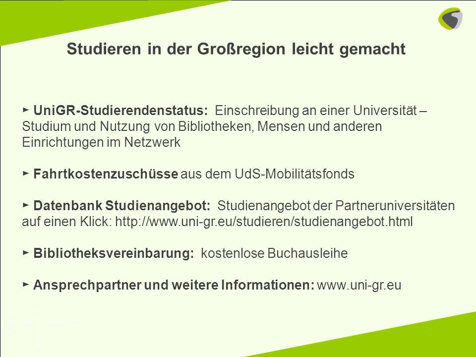 Kontakt an der UdS für den Bereich Mobilität: m.kuehne@ugr.uni-saarland.de