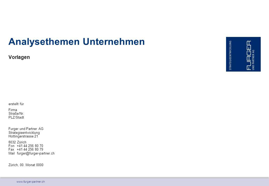 www.furger-partner.ch Vorlagen Analysethemen Unternehmen erstellt für Firma Straße/Nr.