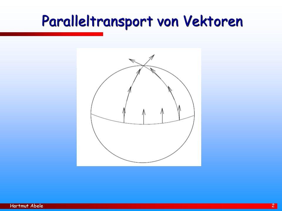 Hartmut Abele 2 Paralleltransport von Vektoren