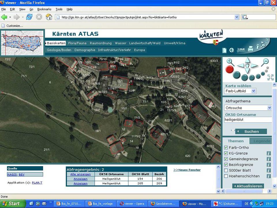 senkrechte Parallelprojektion des Geländes in die Karte Zentralprojektion des Geländes in die Bezugsebene eines Luftbildes Geometrie von Luft- und Satellitenbildern