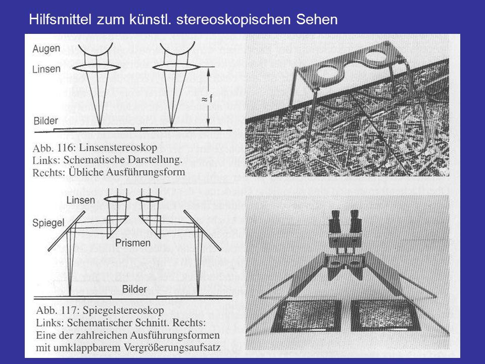 Hilfsmittel zum künstl. stereoskopischen Sehen