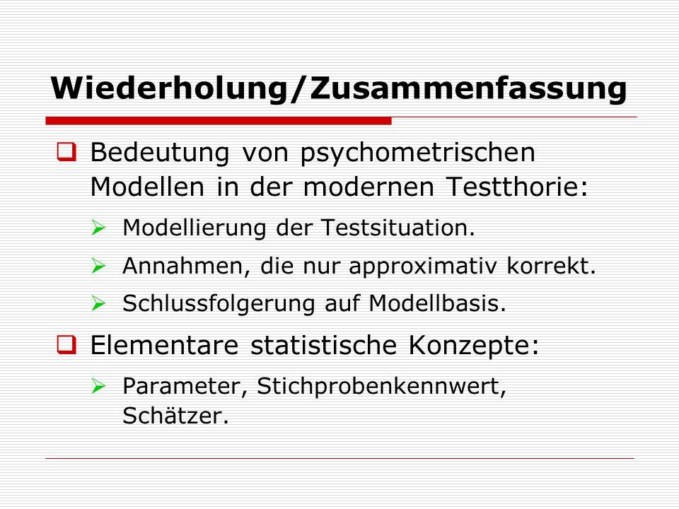 Kapitel 1: Einführung  Prinzip der Statistischen Modellier- ung:  Gegeben: Populationsverteilung mit freien Parametern:  1,  2,…,  n.