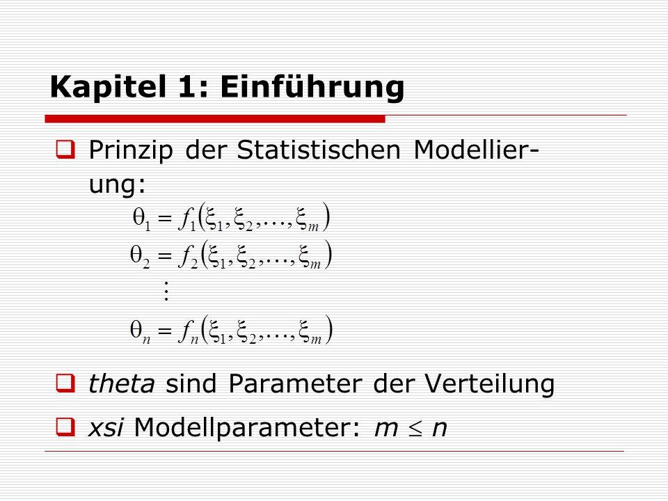 Kapitel 1: Einführung  Modell enthält Annahmen über Me- chanismen und liefert daher eine bessere (kompaktere) Repräsentation  Bsp.: Modell zur Rate-Korrektur: