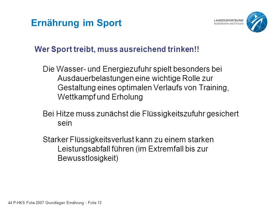 Ernährung im Sport Die Wasser- und Energiezufuhr spielt besonders bei Ausdauerbelastungen eine wichtige Rolle zur Gestaltung eines optimalen Verlaufs
