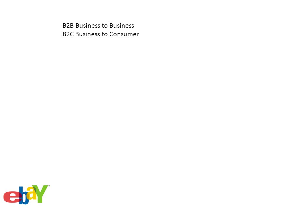 B2B Business to Business B2C Business to Consumer