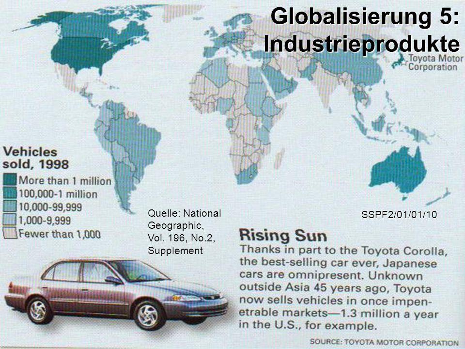 Quelle: National Geographic, Vol. 196, No.2, Supplement SSPF2/01/01/10 Globalisierung 5: Industrieprodukte