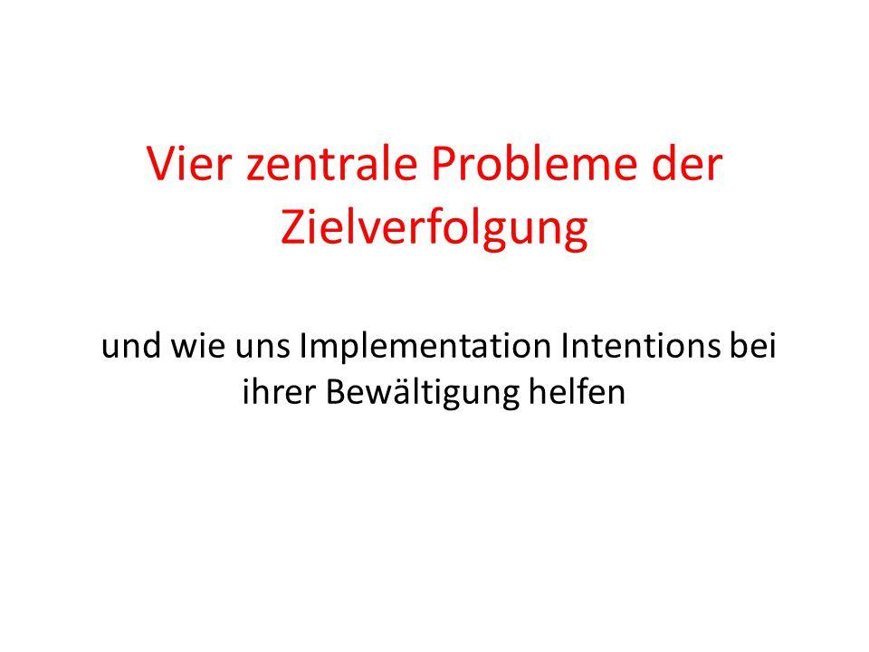 Vier zentrale Probleme der Zielverfolgung und wie uns Implementation Intentions bei ihrer Bewältigung helfen