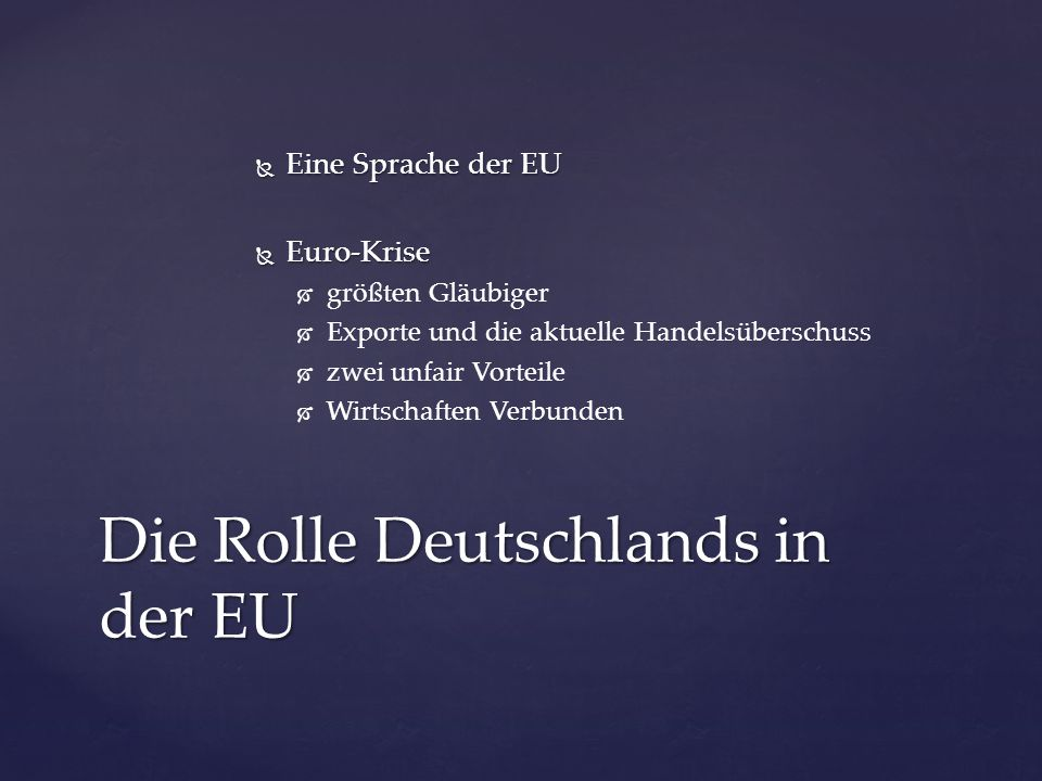  Angela Merkel = The Eurozone's one constant Interessantes Detail