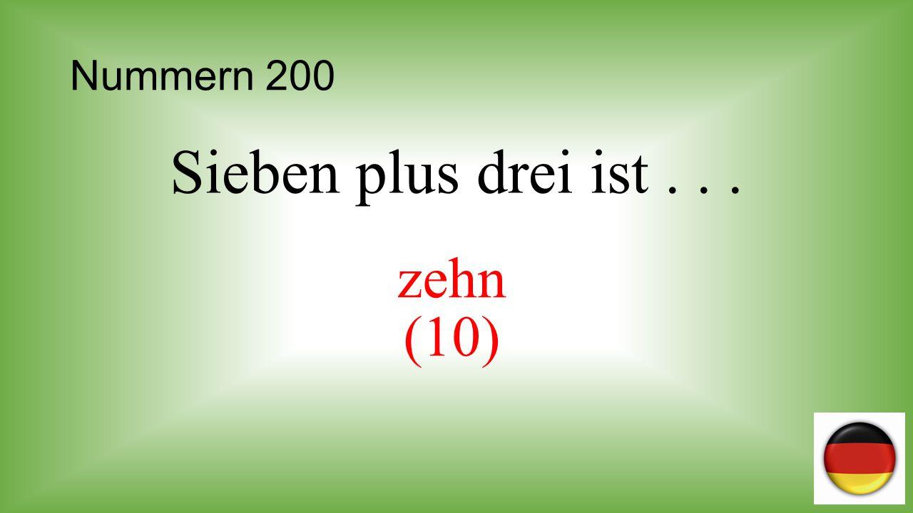 Nummern 300 Wie viel ist neunundzwanzig minus zwei? 29 – 2 = siebenundzwanzig (27)