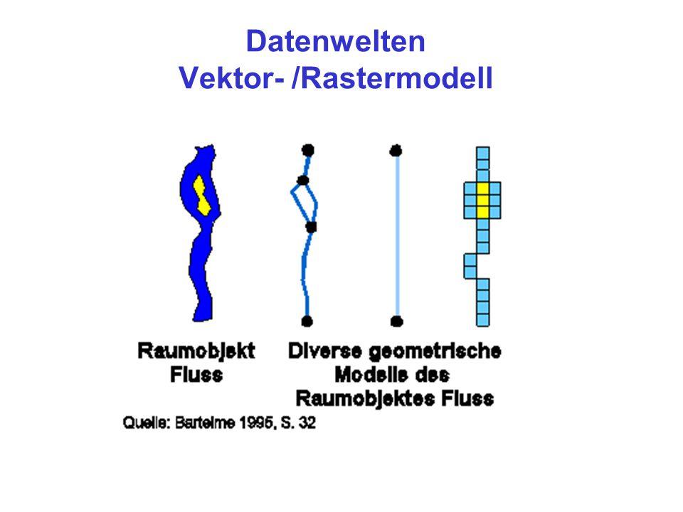 Datenwelten Vektor- /Rastermodell