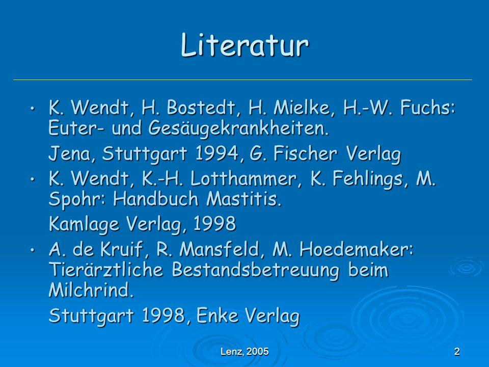 Lenz, 200583 Melhygiene Melkgerätschaften (v.a.Eutertücher) Melkgerätschaften (v.a.