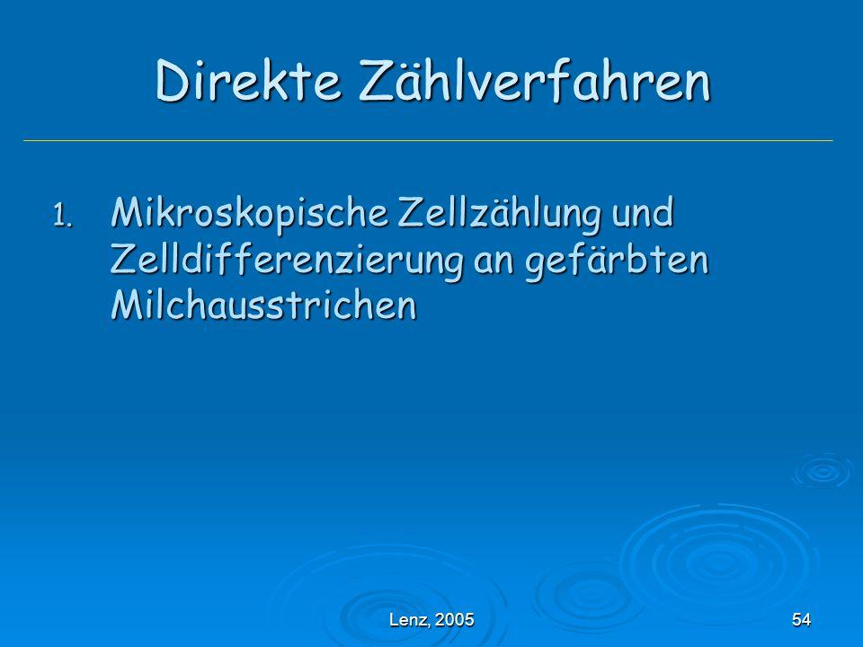 Lenz, 200554 Direkte Zählverfahren 1.
