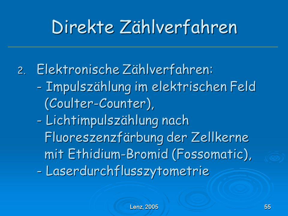 Lenz, 200555 Direkte Zählverfahren 2.
