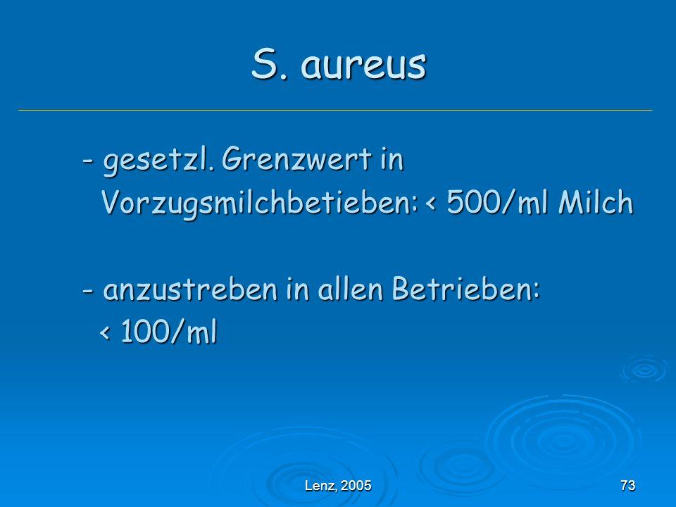 Lenz, 200573 S.aureus - gesetzl.