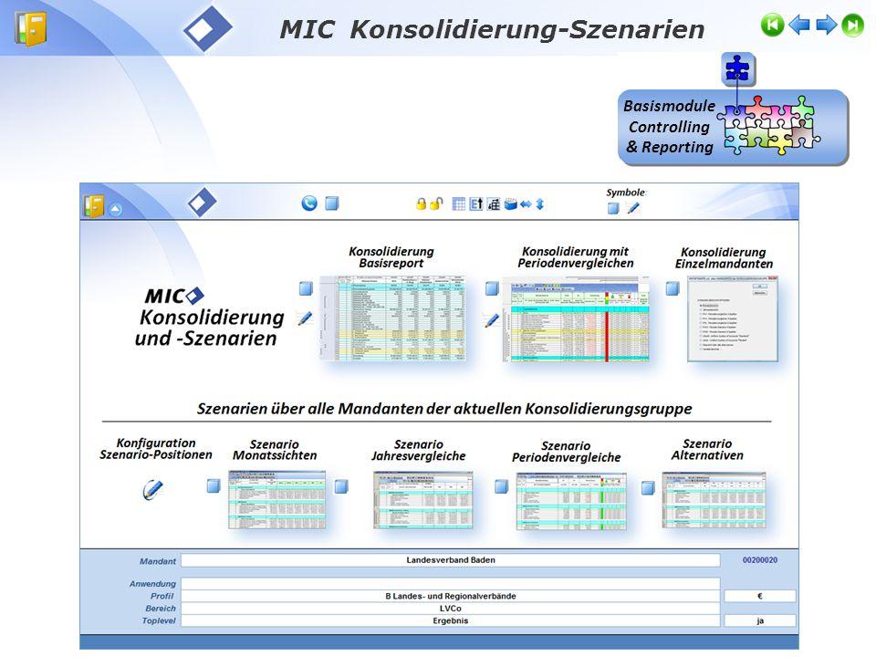 Basismodule Controlling & Reporting MIC Konsolidierung-Szenarien