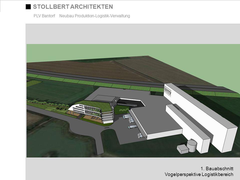 STOLLBERT ARCHITEKTEN PLV Bantorf Neubau Produktion-Logistik-Verwaltung 1. Bauabschnitt Vogelperspektive Logistikbereich