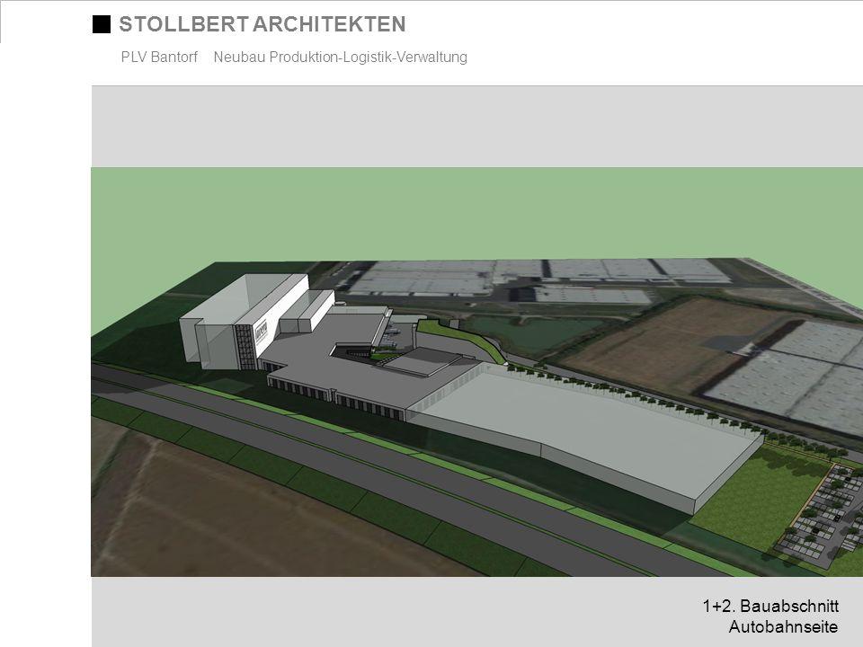 STOLLBERT ARCHITEKTEN PLV Bantorf Neubau Produktion-Logistik-Verwaltung 1+2. Bauabschnitt Autobahnseite