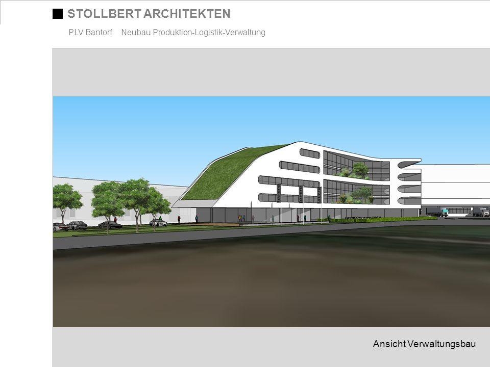 STOLLBERT ARCHITEKTEN PLV Bantorf Neubau Produktion-Logistik-Verwaltung Ansicht Verwaltungsbau