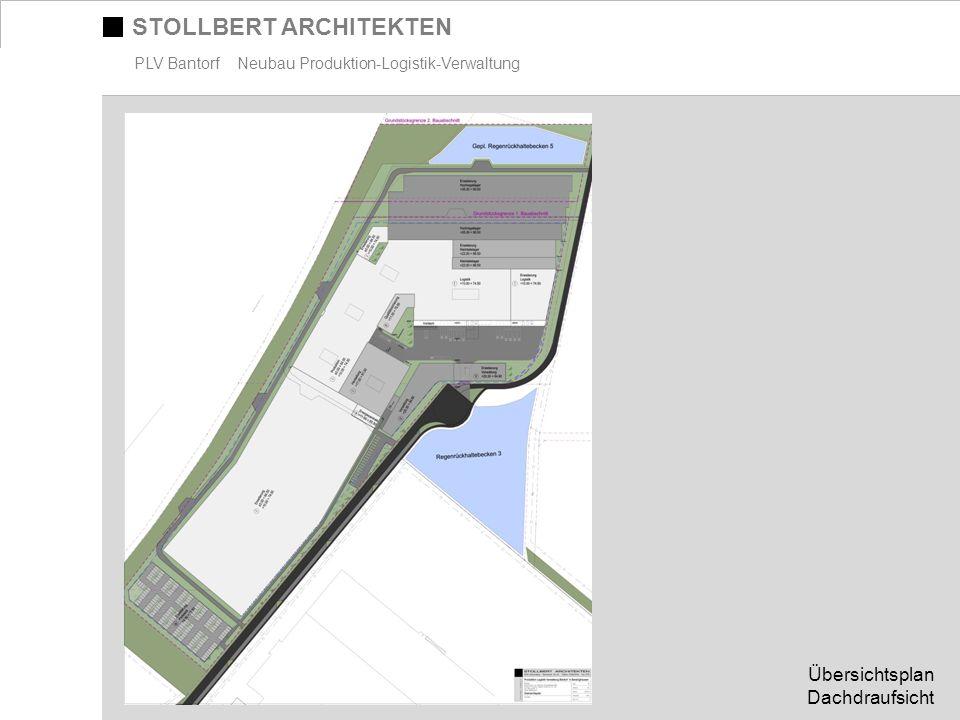 STOLLBERT ARCHITEKTEN PLV Bantorf Neubau Produktion-Logistik-Verwaltung Übersichtsplan Dachdraufsicht