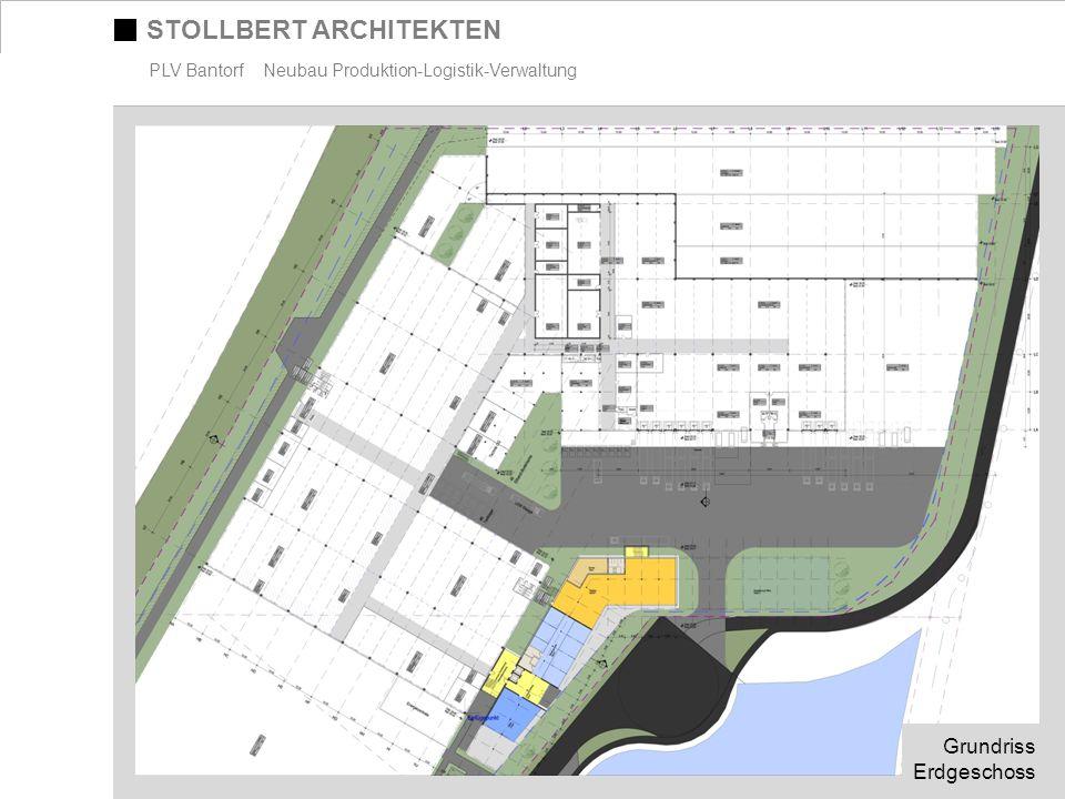 STOLLBERT ARCHITEKTEN PLV Bantorf Neubau Produktion-Logistik-Verwaltung Grundriss Erdgeschoss