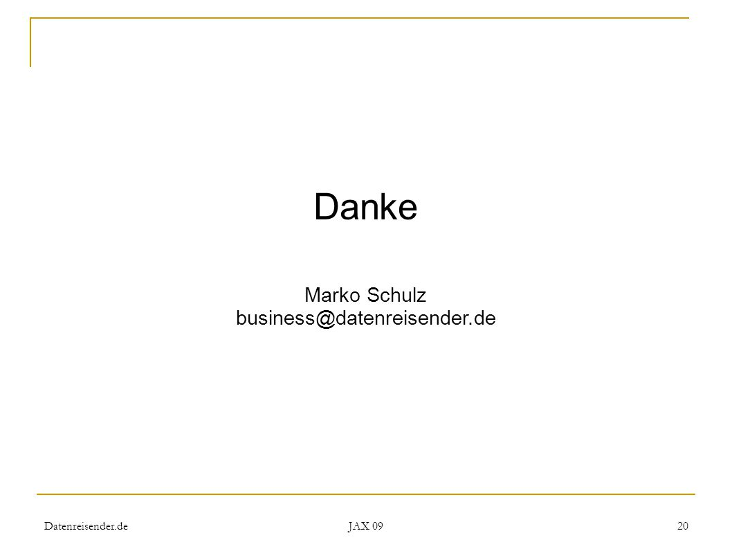 Datenreisender.de JAX 09 20 Danke Marko Schulz business@datenreisender.de