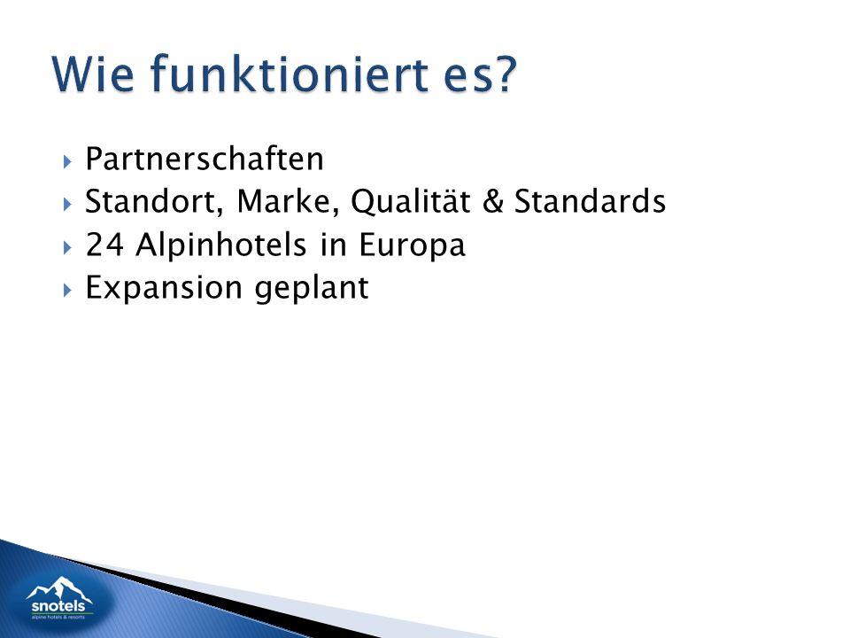  Partnerschaften  Standort, Marke, Qualität & Standards  24 Alpinhotels in Europa  Expansion geplant