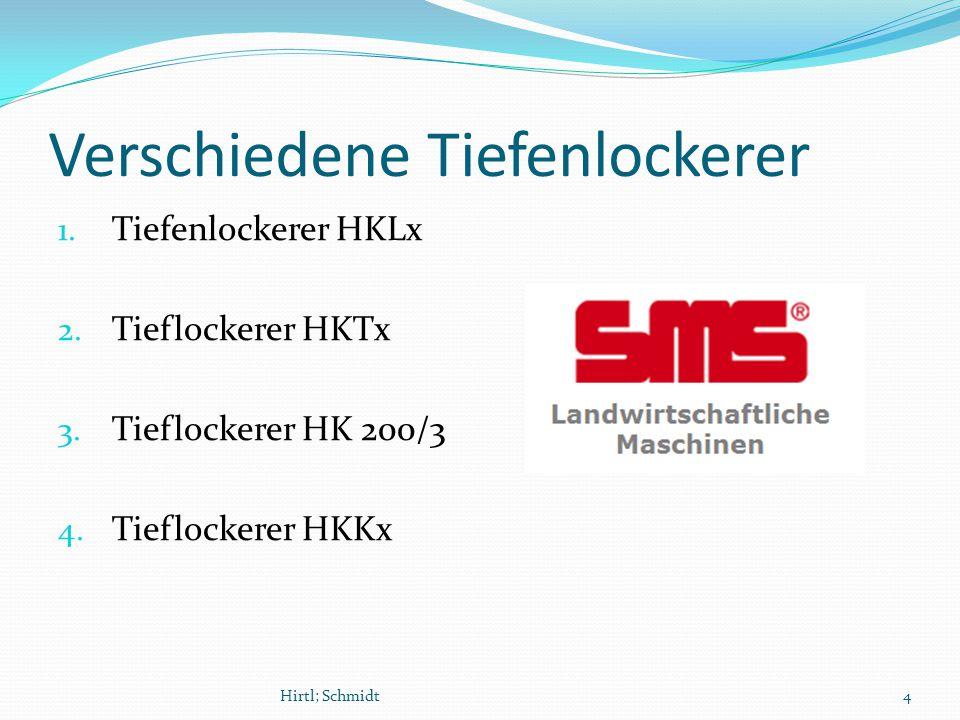 Verschiedene Tiefenlockerer 1. Tiefenlockerer HKLx 2.