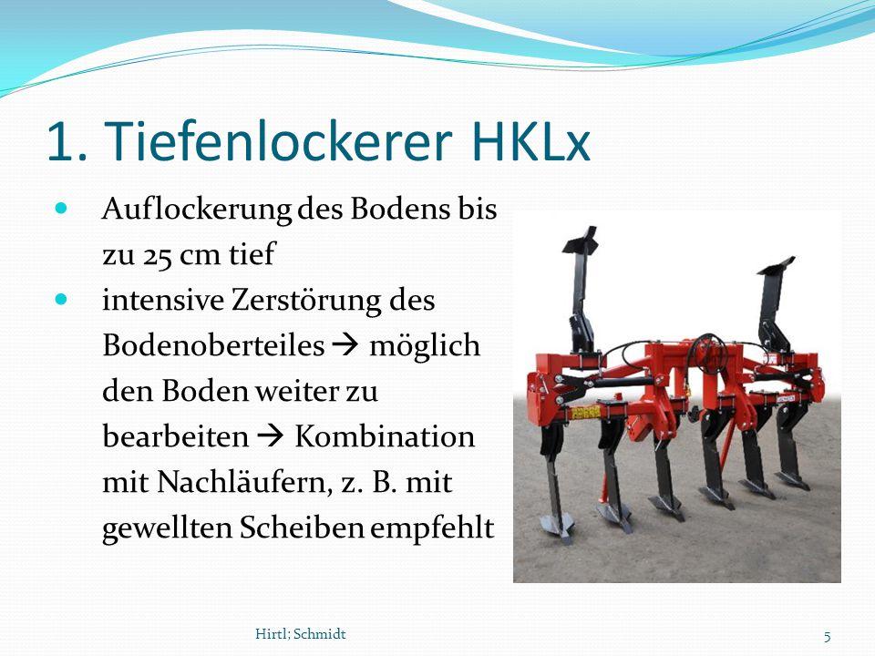 1. Tiefenlockerer HKLx Auflockerung des Bodens bis zu 25 cm tief intensive Zerstörung des Bodenoberteiles  möglich den Boden weiter zu bearbeiten  K