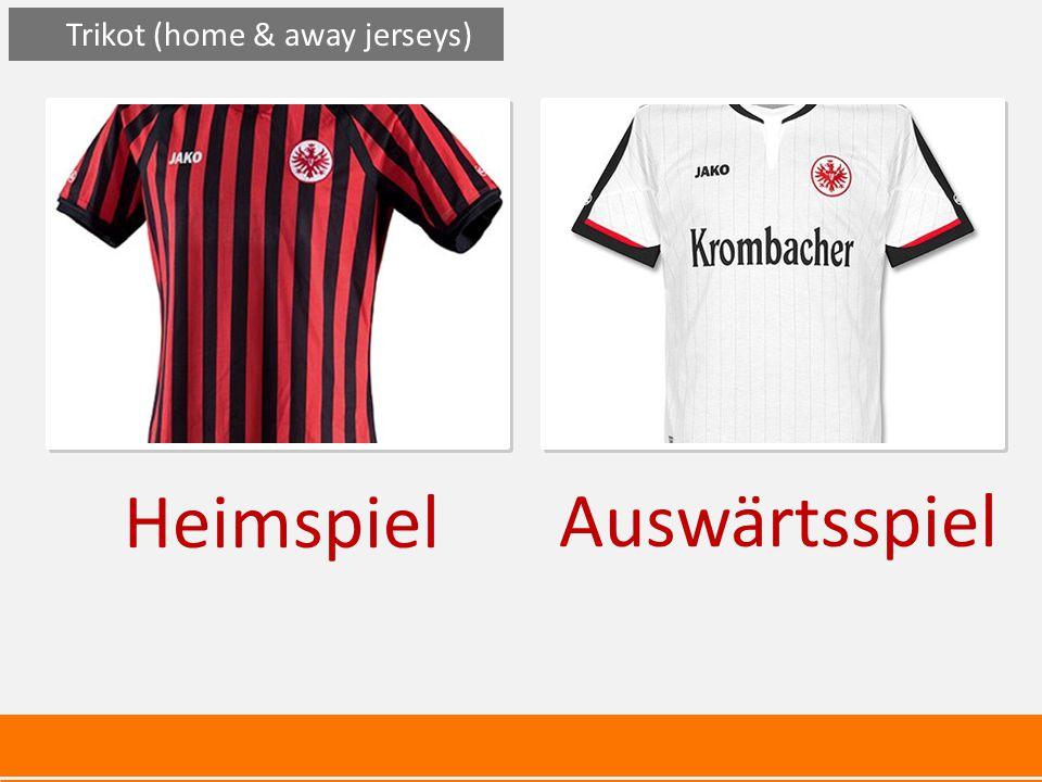 Heimspiel Auswärtsspiel Trikot (home & away jerseys)