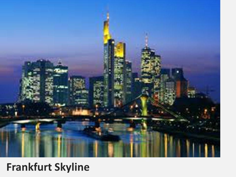 Landkarte Frankfurt liegt im Westen Deutschland