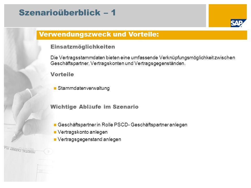 Szenarioüberblick – 2 Erforderlich EHP3 for SAP ERP 6.0 An den Abläufen beteiligte Benutzerrollen Planer Erforderliche SAP-Anwendungen: