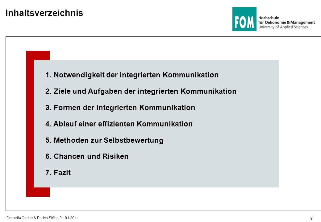 Inhaltsverzeichnis 2 1. Notwendigkeit der integrierten Kommunikation 2. Ziele und Aufgaben der integrierten Kommunikation 3. Formen der integrierten K