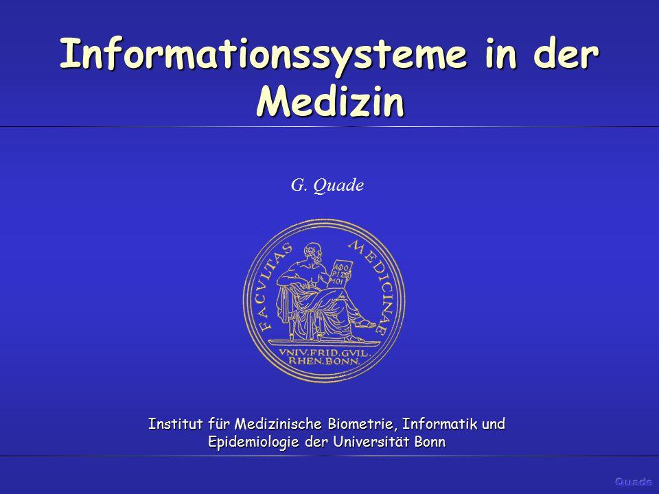 Krankenhaus - Informationssystem Das Krankenhaus-Informationssystem bietet darüberhinaus die Möglichkeit, aus den Grunddaten Informationen zu bilden, diese zu präsentieren und in medizinisch nicht relevante Entscheidungen (z.