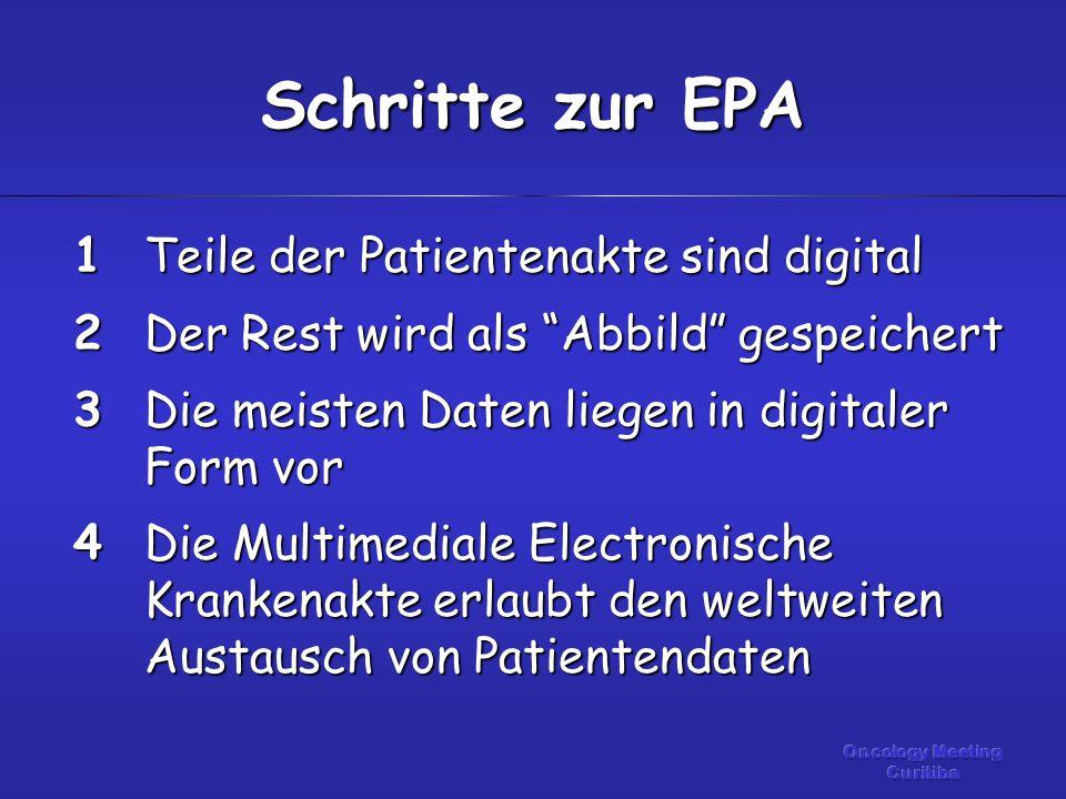 """Teile der Patientenakte sind digital Der Rest wird als """"Abbild"""" gespeichert Die meisten Daten liegen in digitaler Form vor Die Multimediale Electronis"""