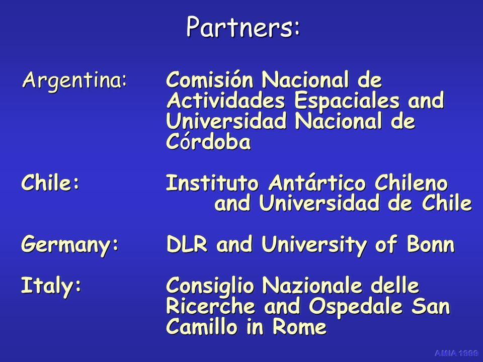 Argentina: Comisión Nacional de Actividades Espaciales and Universidad Nacional de Córdoba Chile:Instituto Antártico Chileno and Universidad de Chile