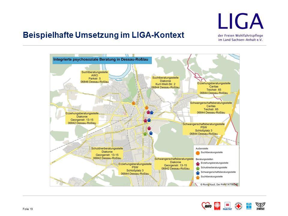 Folie 19 Beispielhafte Umsetzung im LIGA-Kontext
