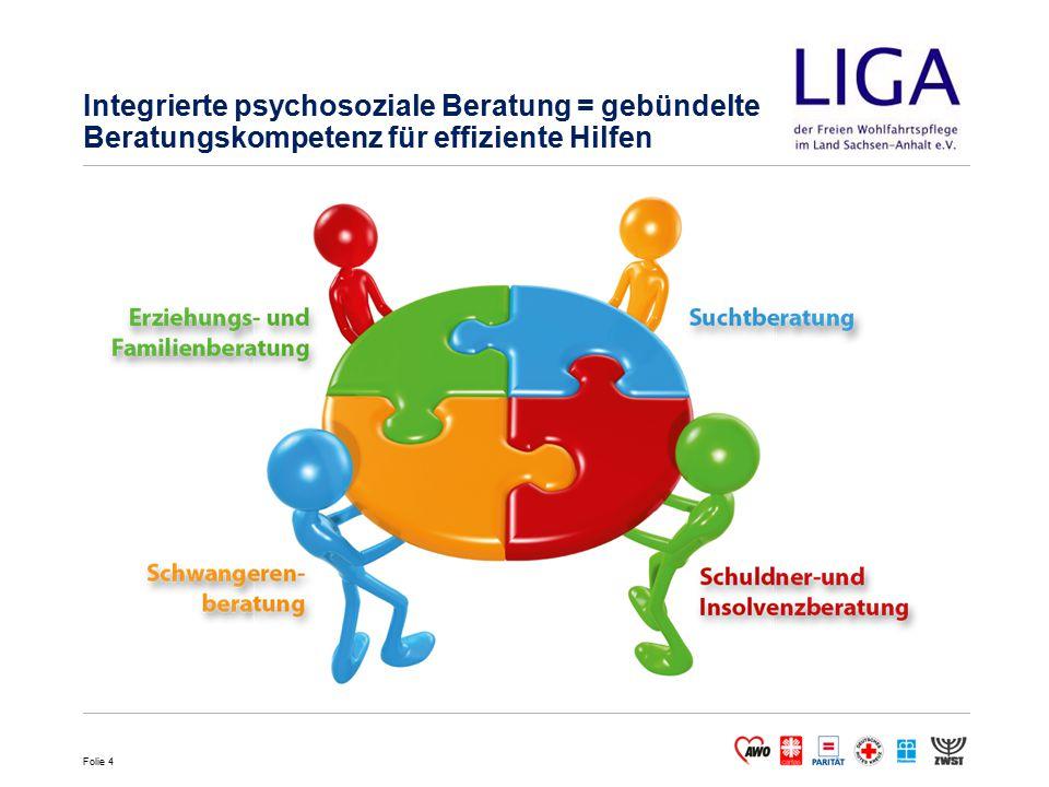 Folie 4 Integrierte psychosoziale Beratung = gebündelte Beratungskompetenz für effiziente Hilfen