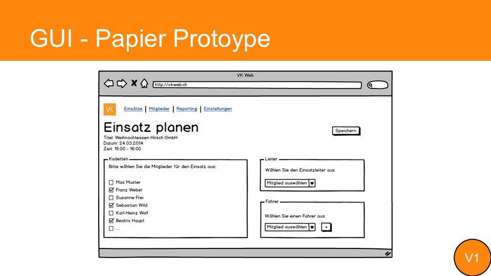 GUI - Papier Protoype V1