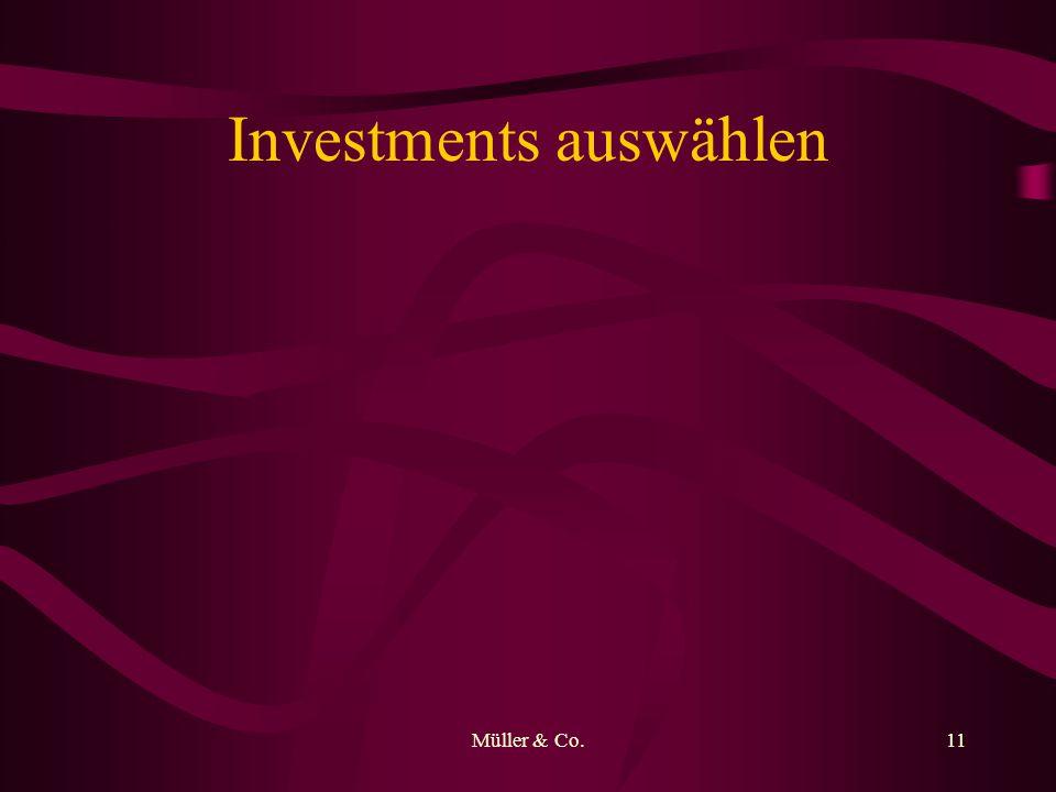 Müller & Co.11 Investments auswählen