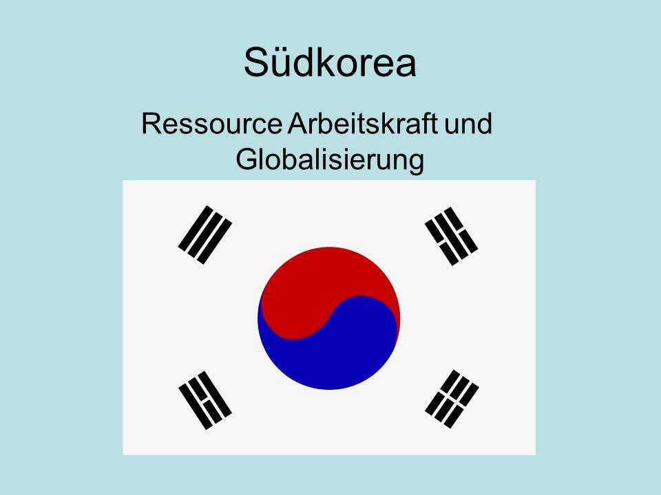 Südkorea Ressource Arbeitskraft und Globalisierung