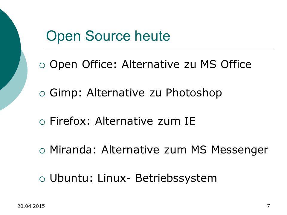 These Open Source Programme sind ihren kostenpflichtigen Äquivalenten zumeist ebenbürtig.