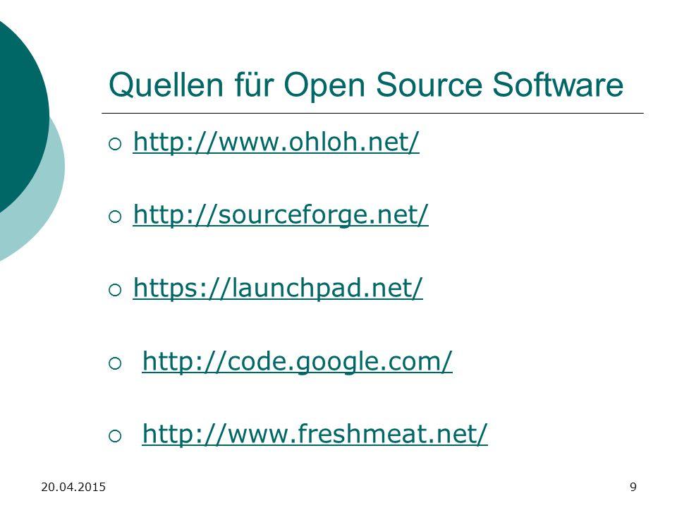 Praxis: Open Office 1) Finden (http://de.openoffice.org/)http://de.openoffice.org/ 2) Runterladen: Open Office Portable (Windows Version mit Python) 3) Installieren 4) Starten 20.04.201510