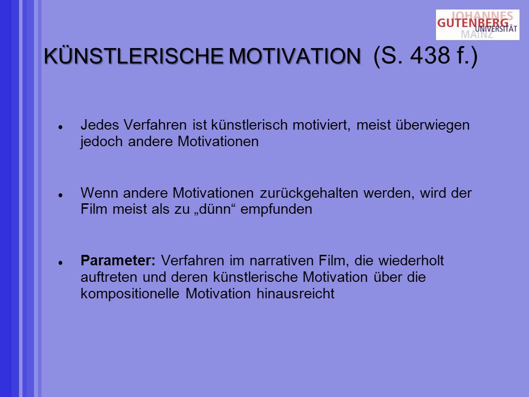 KÜNSTLERISCHE MOTIVATION KÜNSTLERISCHE MOTIVATION (S.