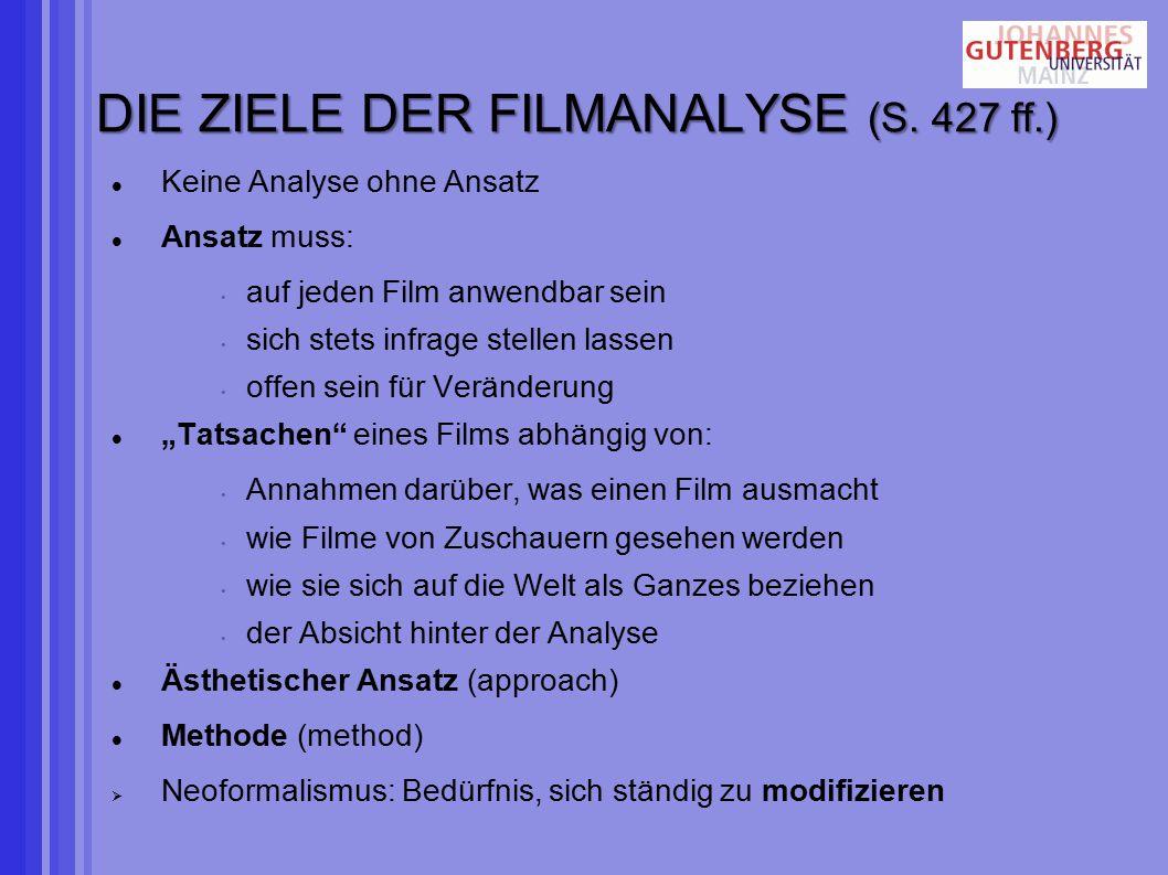 DIE ZIELE DER FILMANALYSE (S.