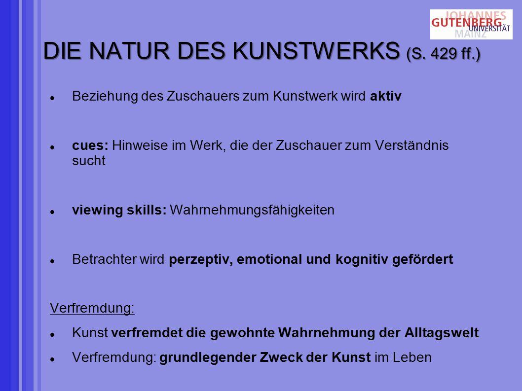 DIE NATUR DES KUNSTWERKS (S.