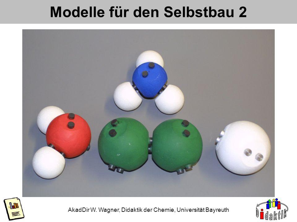 AkadDir W. Wagner, Didaktik der Chemie, Universität Bayreuth Modelle für den Selbstbau 2