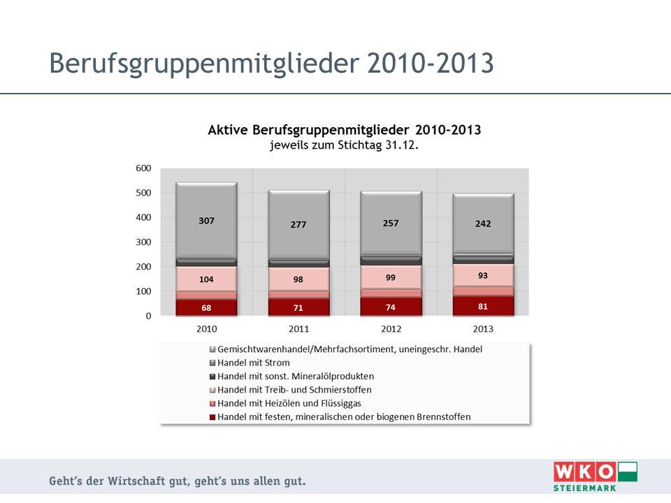 Berufsgruppenmitglieder 2010-2013