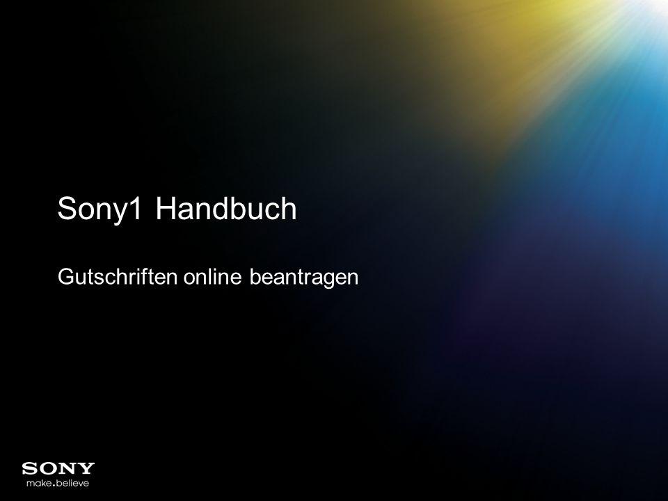 Sony1 Handbuch Gutschriften online beantragen